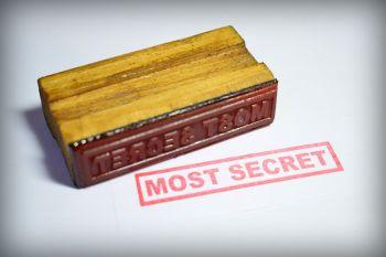 Most Secret Rubber Stamp