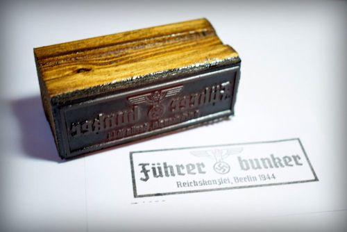 Führerbunker Rubber Stamp