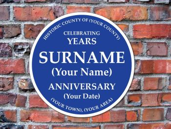 English Heritage Blue Plaques - Custom Made