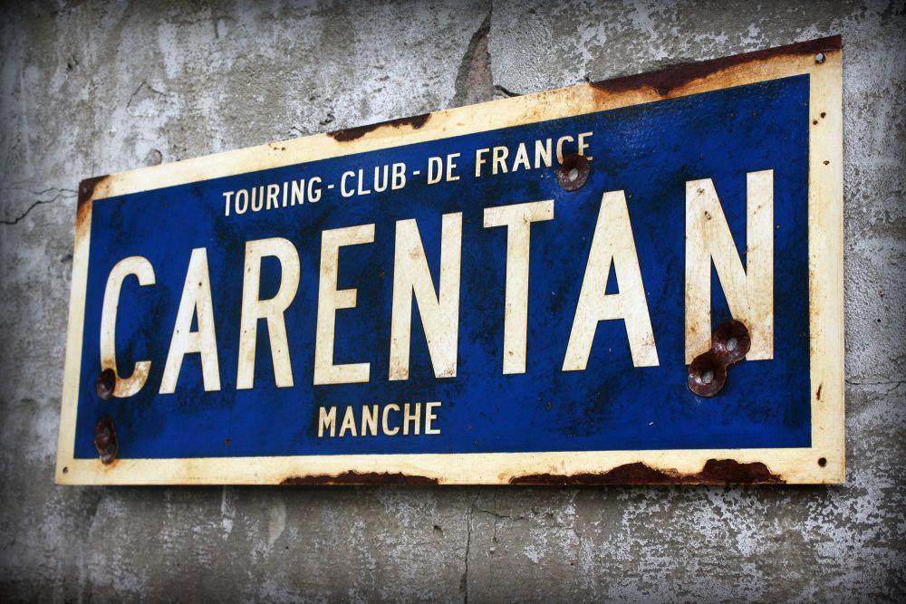 Carentan Steel Sign