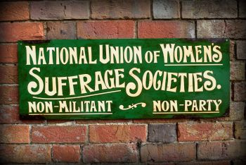 Suffragette Steel Sign