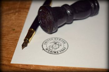 US Marine Corp Rubber Stamp
