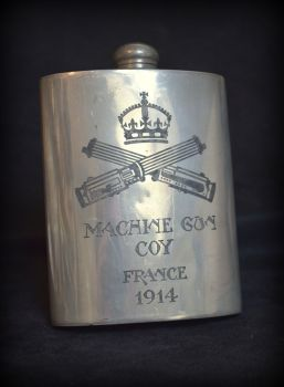 WWI Machine Gun Corp Hip Flask