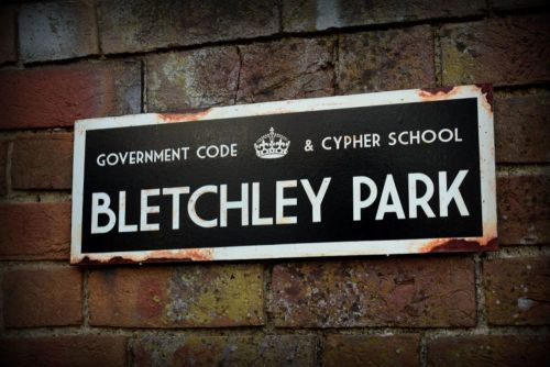 Bletchley Park display sign
