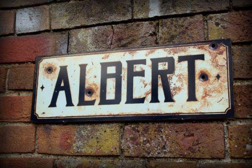 Albert display sign