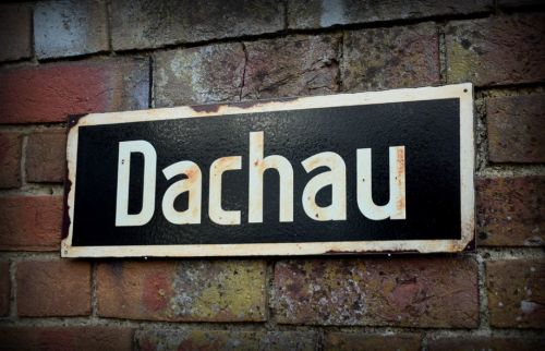 Dachau display sign