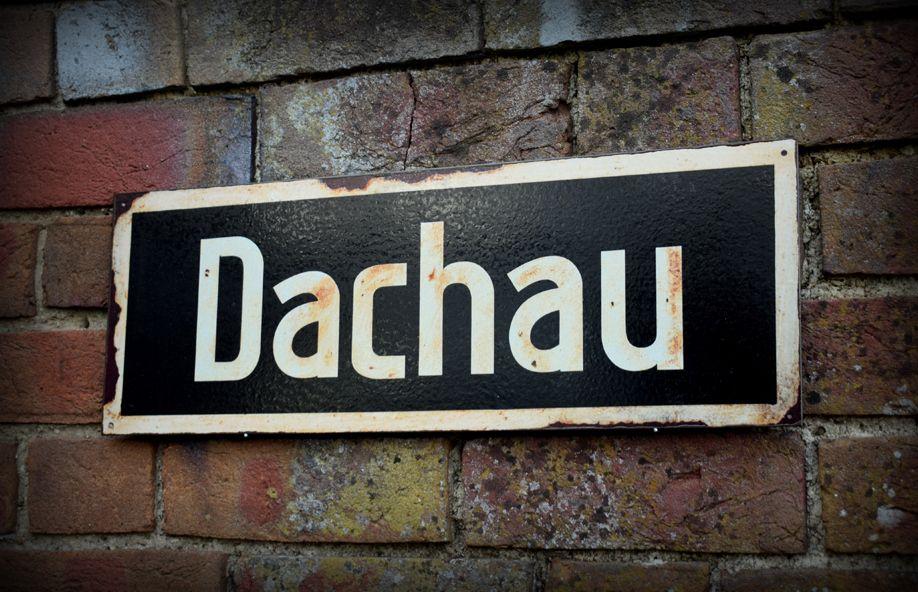 Dachau display sign