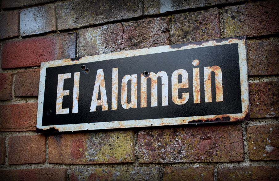 El Alamein display sign