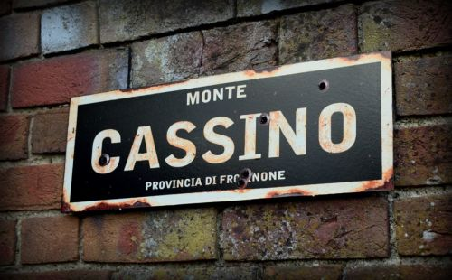Monte Cassino display sign