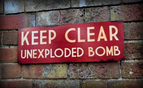 Keep Clear UXB display sign