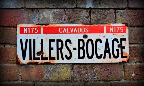 Villers-Bocage display sign