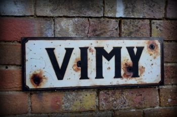 Vimy display sign