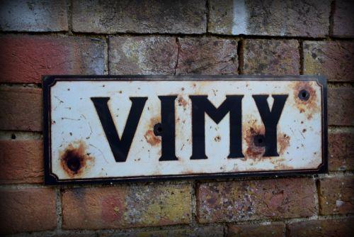 Vimy display sign
