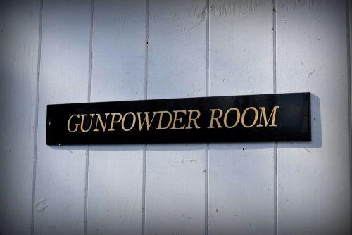 Gunpowder Room -  Door Plaque