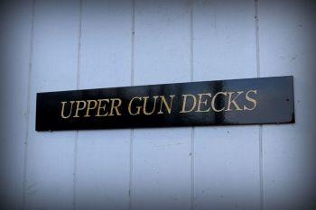 Upper Gun Decks - door plaque