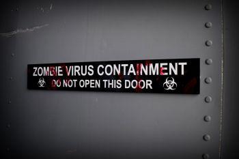 Zombie Virus -  Door Plaque