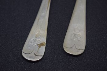 King George V dessert forks (pair)
