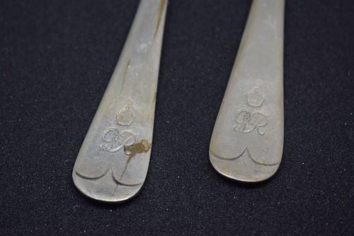 King George V dessert forks (pair)