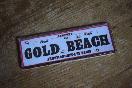 Gold Beach Fridge Magnet