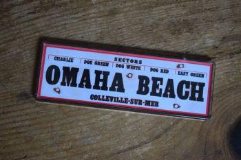 Omaha Beach Fridge Magnet