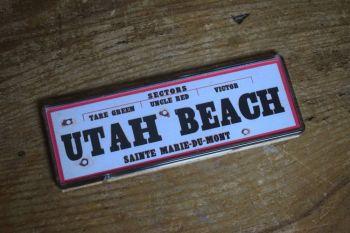 Utah Beach Fridge Magnet