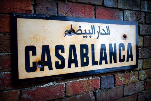 Casablanca Street Sign