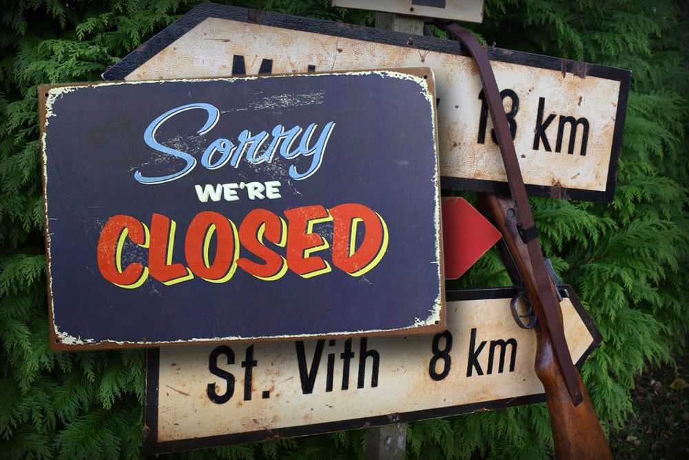 Sorry we are closed 2