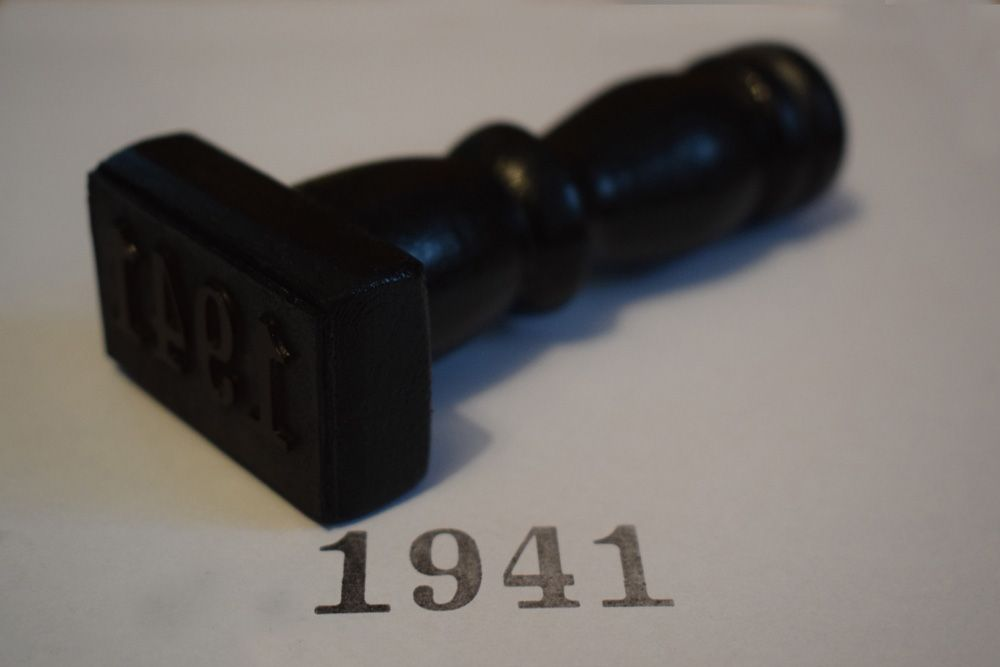 1941 Rubber Stamp