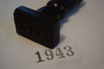 1943 Rubber Stamp