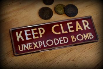 Keep Clear UXB Fridge Magnet