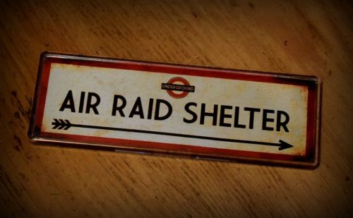 Air Raid Shelter Fridge Magnet