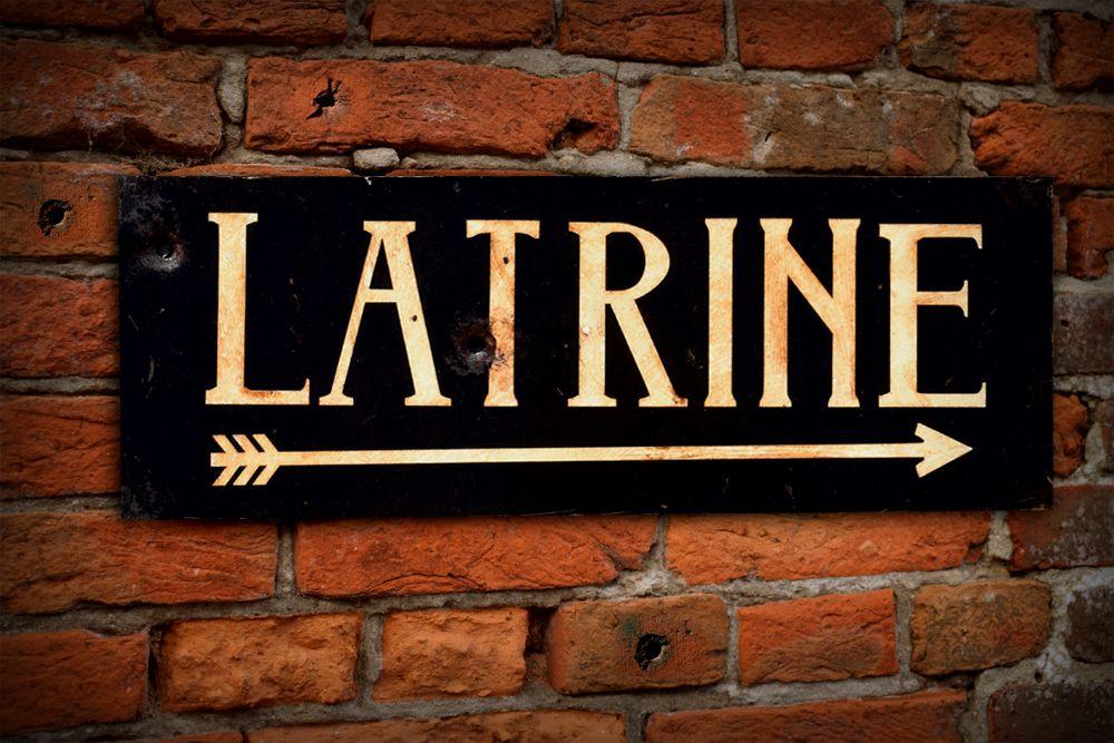 Latrine Display Sign