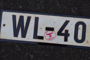 Luftwaffe Vehicle Reg Plate