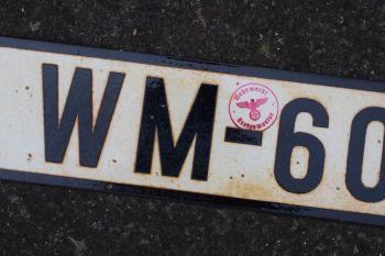 Kreigsmarine Vehicle Reg Plate