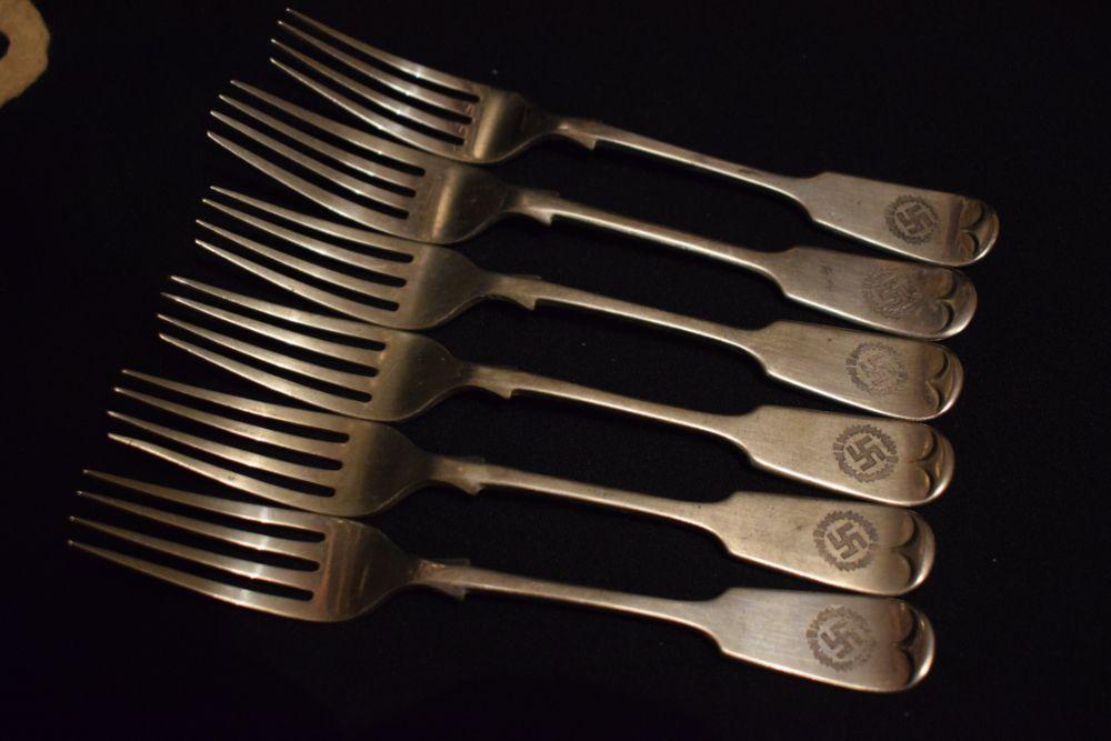 Swastika Dessert Forks (pair)