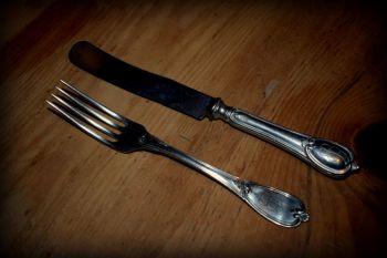 Eva Braun Small Knife and Fork set (pair)