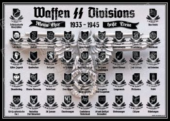 Waffen SS Divisions A1 Poster