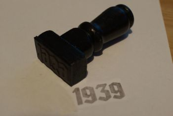 1939 Gothic Rubber Stamp