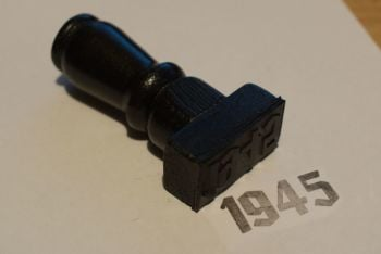 1945 Gothic Rubber Stamp