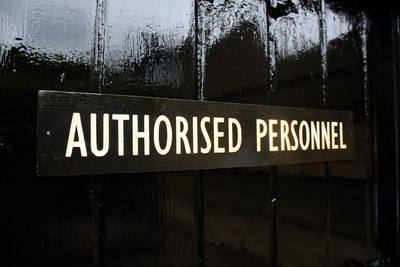 Authorised Personnel Door Plaque