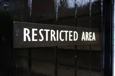 Restricted Area Door Plaque