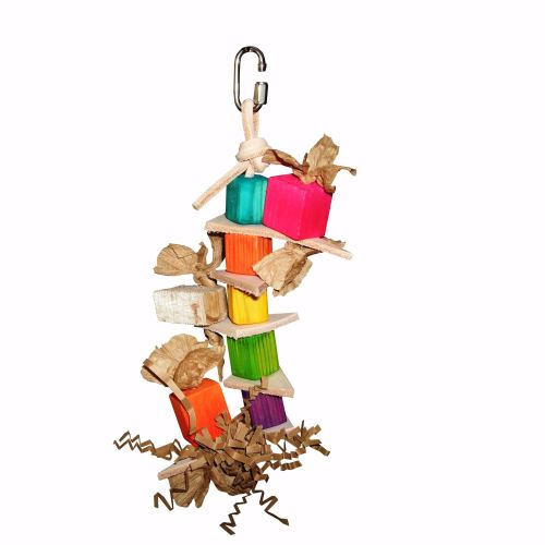 Shred and Refill Pine Stacker Parrot Toy for Mini to Medium Birds
