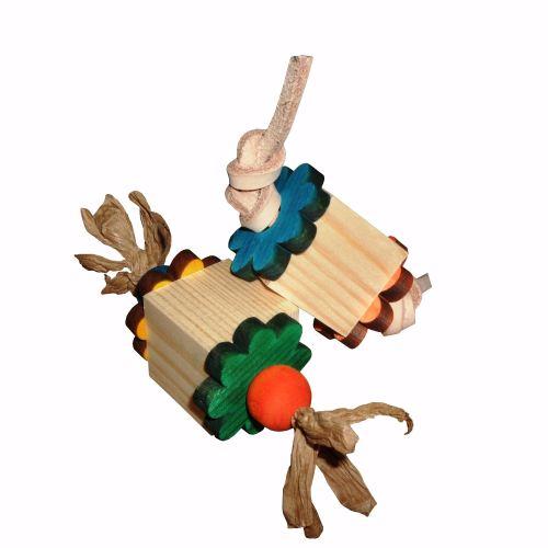 Daisy Bites, Shredding Foot Toys for Medium to Large Parrots