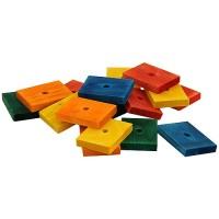 Zoo-Max Colourful Wooden Slices 6.5cm Medium, 18pk