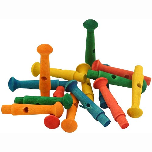 Zoo-Max Colourful Wooden Dowel Pegs 1pk