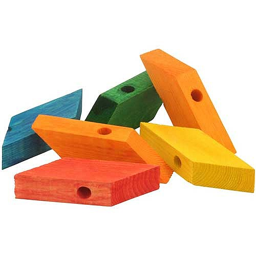 Wood Bird Toys : Zoo max coloured wooden rhombus blocks large wood for