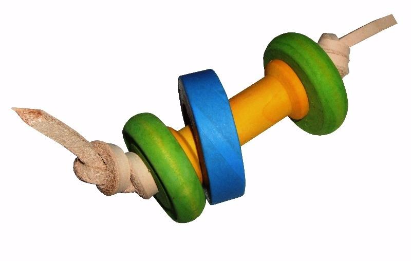 wooden foot toys for parrots - bobbin