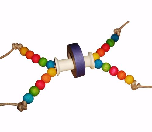 Woggle, Colourful Foot Toy for Medium to Large Parrots