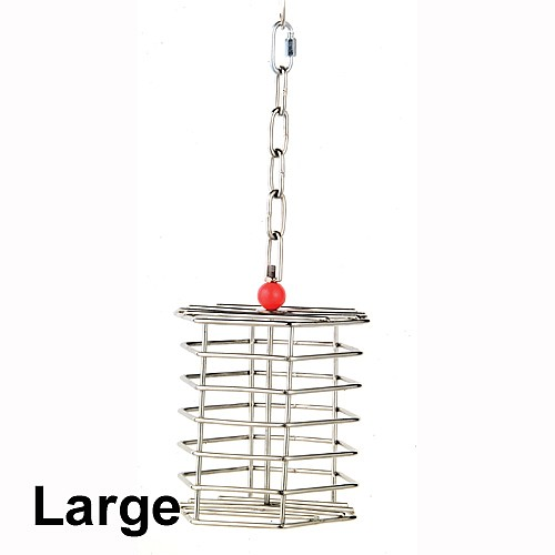Stainless Steel Foraging Toy Baffle Cage Large