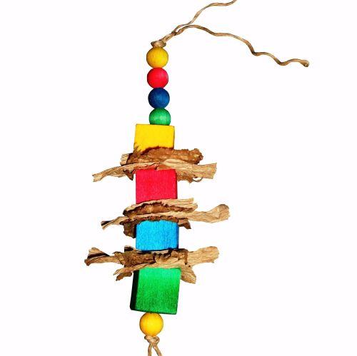 Balsa RahRah Parrot shredding Toy for Light Shredders